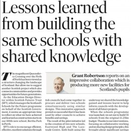 Lessons learned from building the same schools with shared knowledge