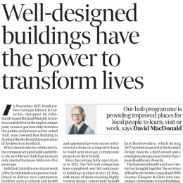 Well-designed buildings have the power to transform lives