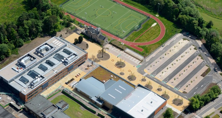 Eastwood High School - aerial image
